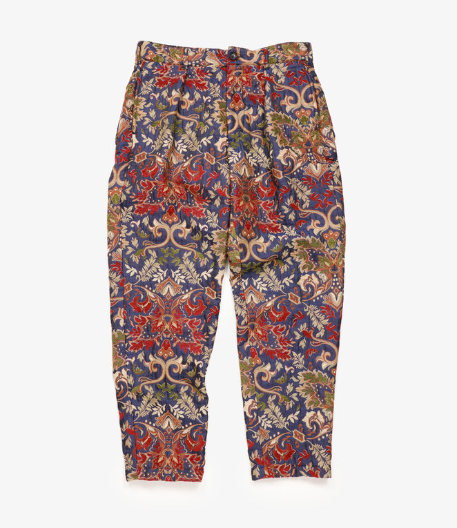 Engineered Garments Carlyle Pant - Navy/Khaki Big Floral Jacquard