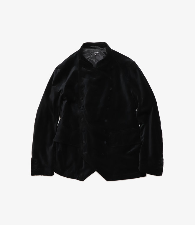 Engineered Garments Chelsea Jacket - Black Cotton Velveteen