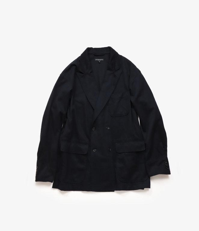 Engineered Garments DL Jacket - Dark Navy Wool Cotton Flannel