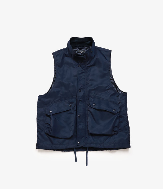 Engineered Garments Field Vest - Navy Flight Satin Nylon
