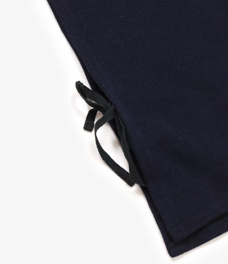 Engineered Garments Hooded Interliner - Dark Navy Poly Wool Jersey Knit