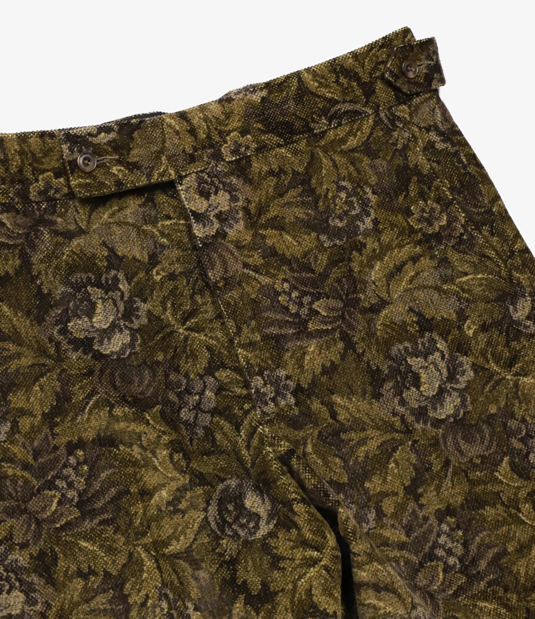 Needles Side Tab Trouser - Dobby Corduroy / Botanical Print