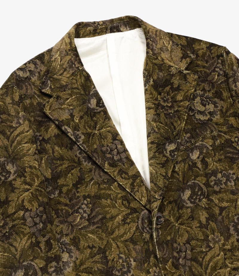 Needles 2B Jacket - Dobby Corduroy / Botanical Print - Brown
