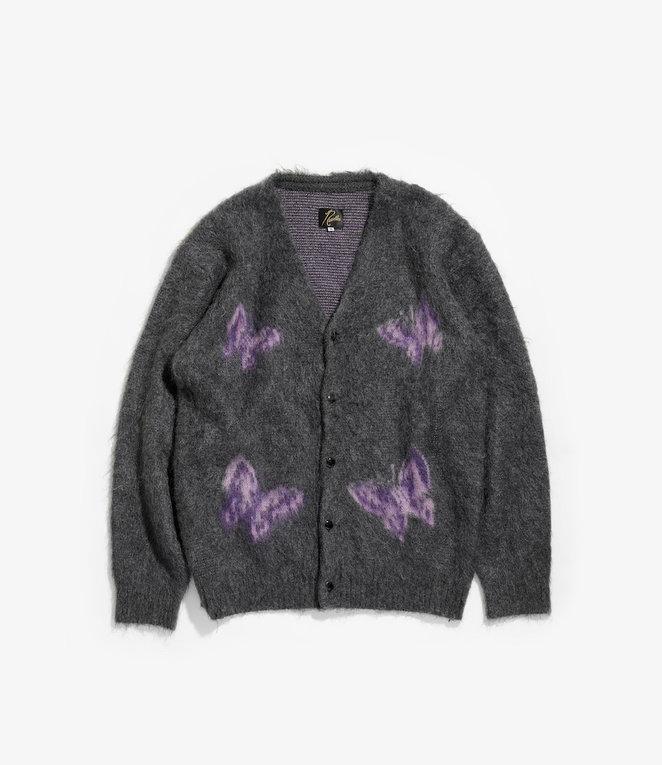 Needles Mohair Cardigan - Papillon - Charcoal