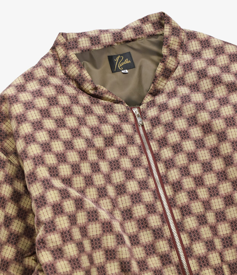 Needles Stand Collar Down Sur Coat - Poly Taffeta / Print - Well