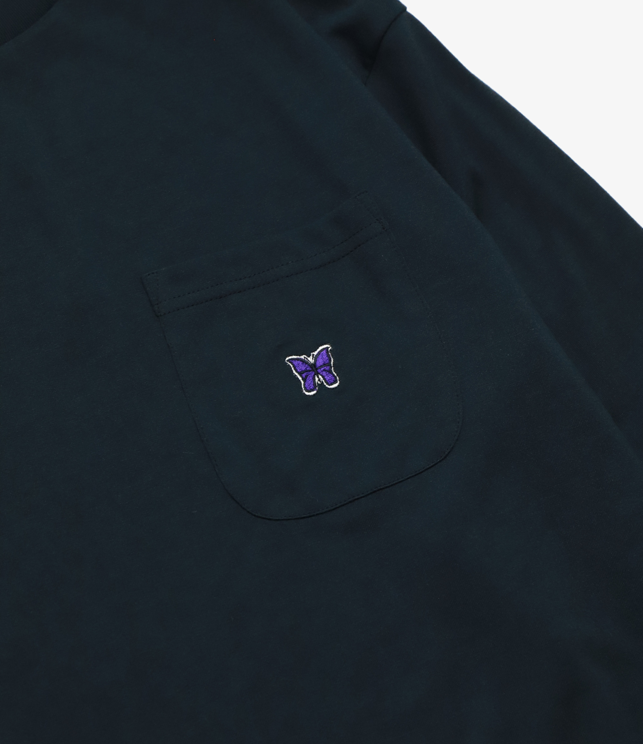 Needles L/S Crew Neck Tee - Synthetic Jersey - Black