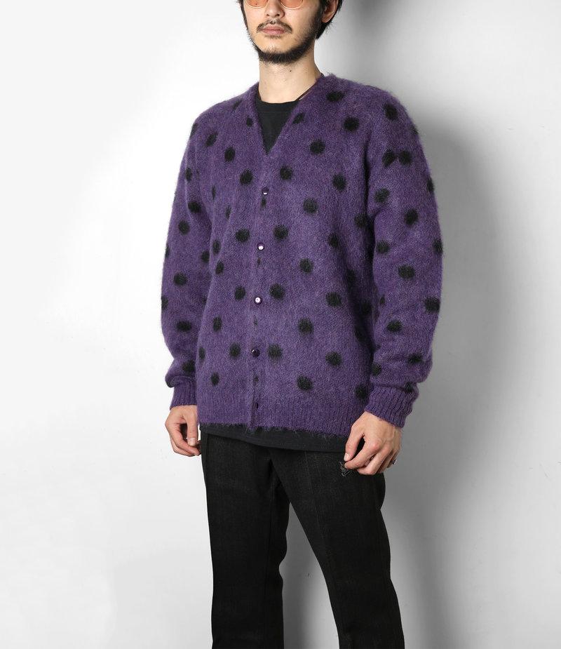 Needles Mohair Cardigan - Polka Dot - Purple