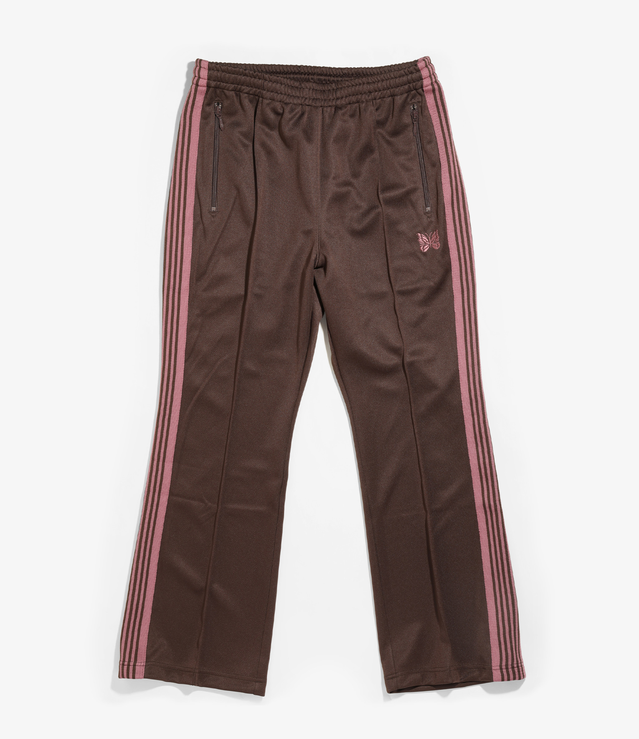 Needles Boot-Cut Track Pant - Poly Smooth - Brown