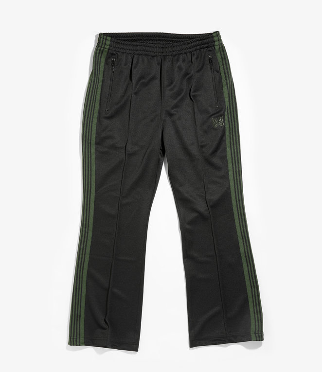 Needles Boot-Cut Track Pant - Poly Smooth - Black