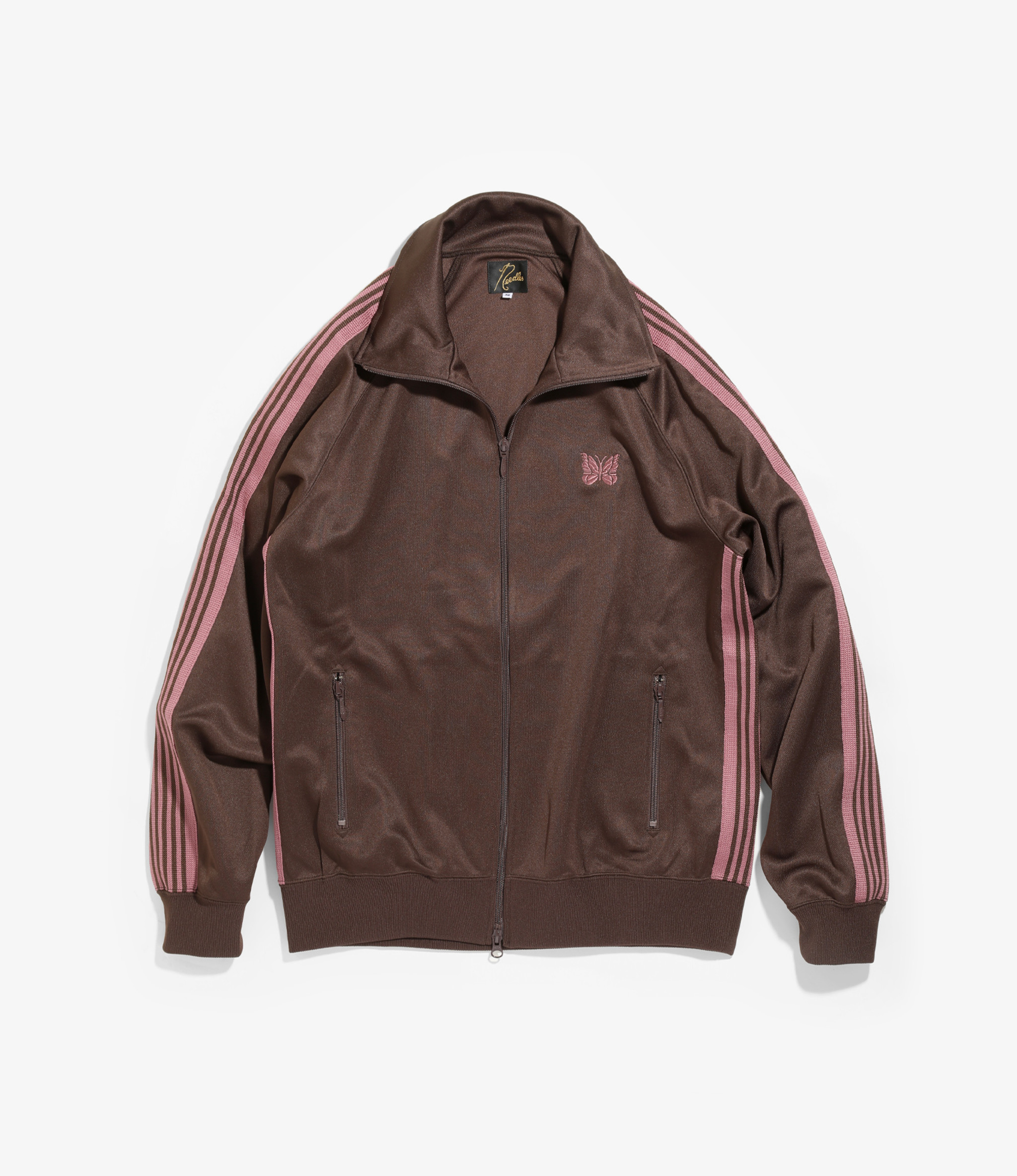 Needles Track Jacket - Poly Smooth - Brown
