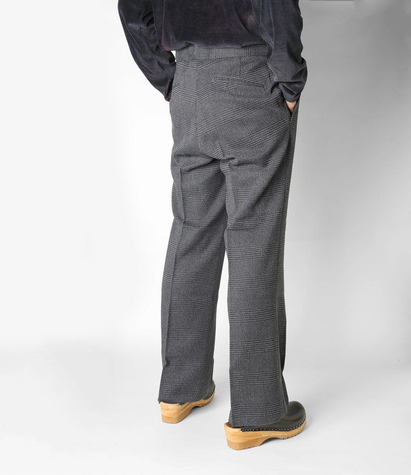 Needles Side Tab Trouser - Glen Plaid - Grey