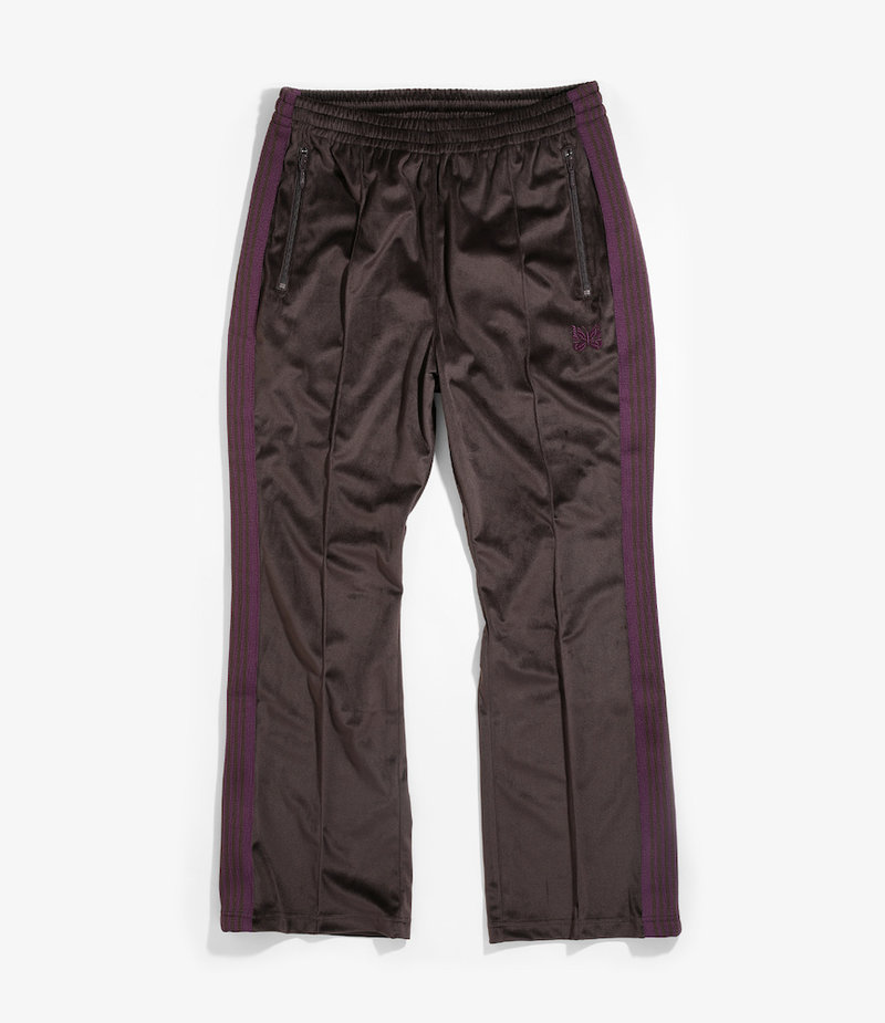 Needles Boot-Cut Track Pant - Poly Velour - Brown