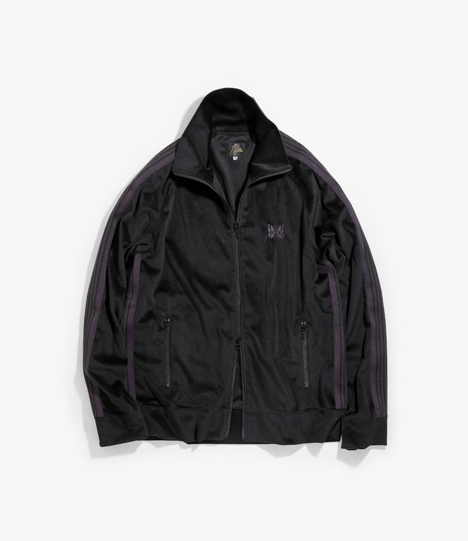 Needles Track Jacket - Poly Velour - Black