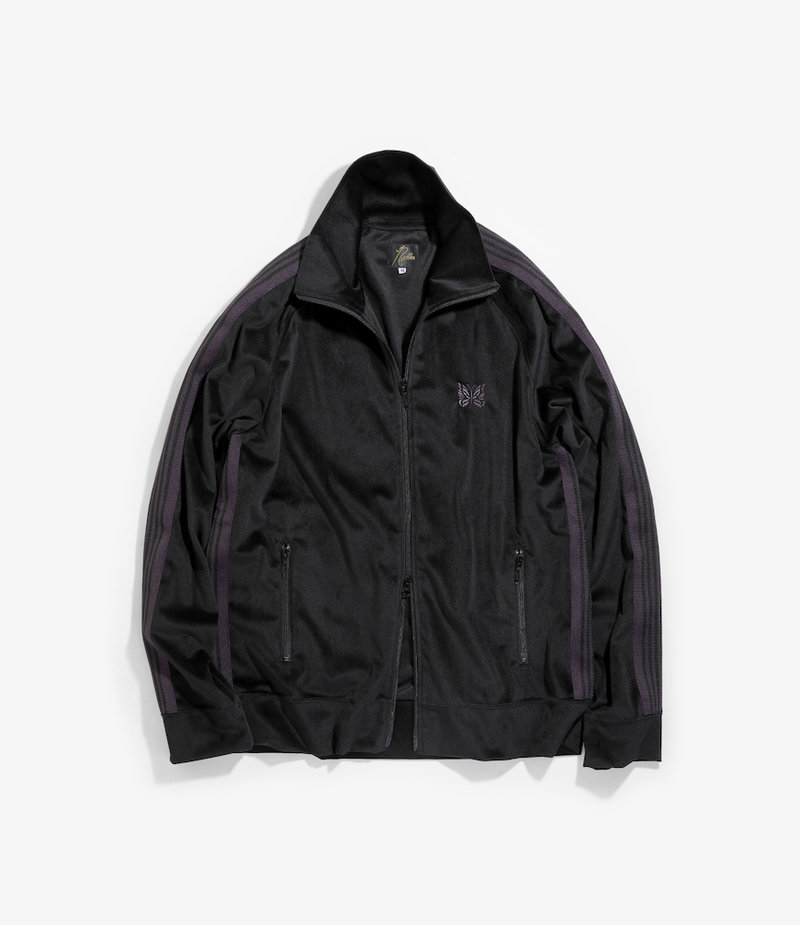 Needles Track Jacket - Poly Velour - Black