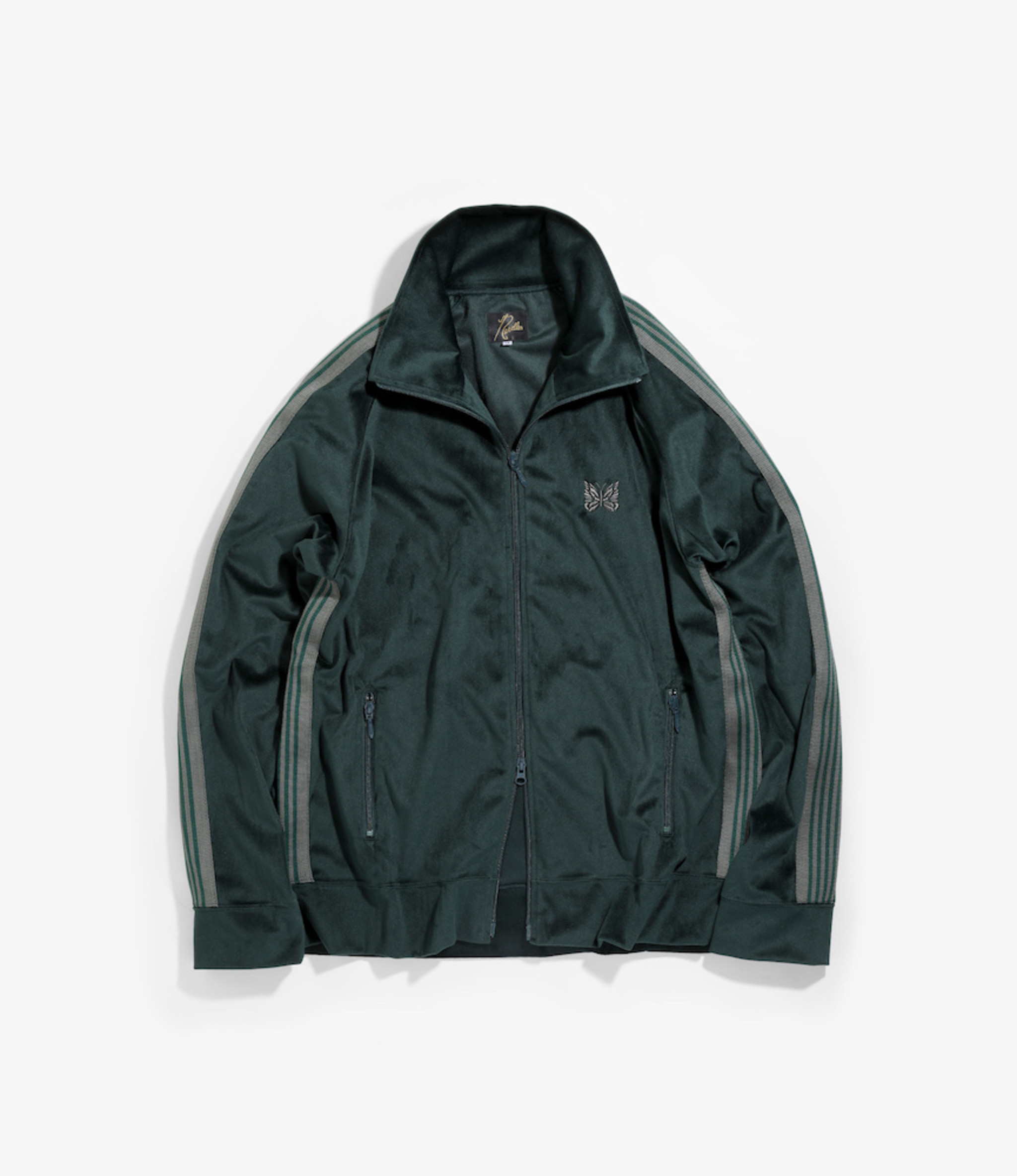 Needles Track Jacket - Poly Velour - Green