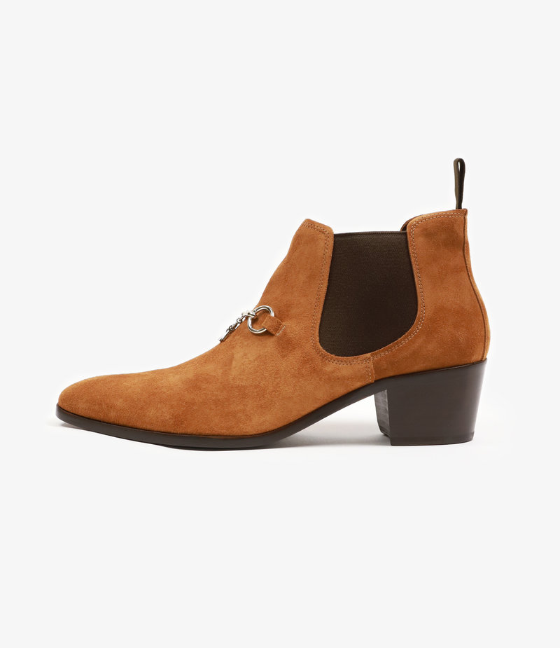 Needles Heeled Chelsea Bit Boot - Brown