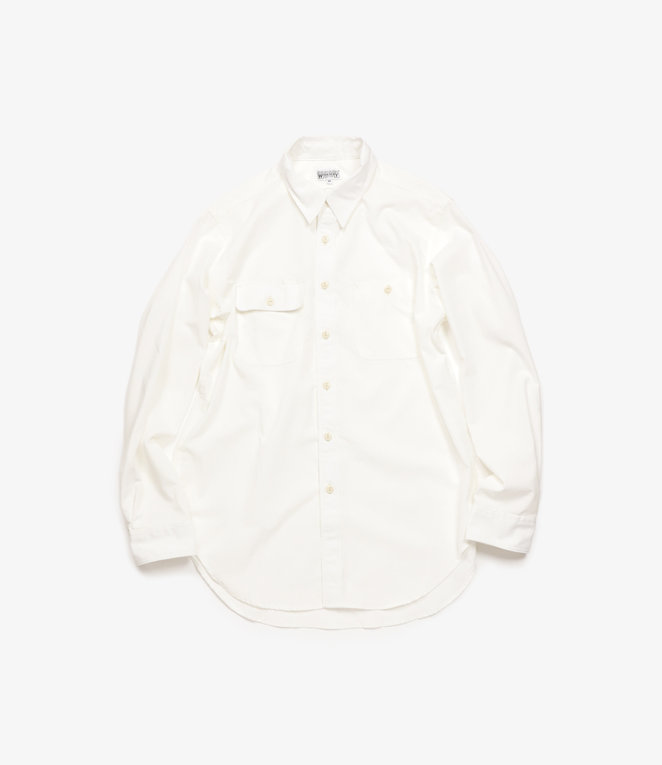 Workaday by Engineered Garments WD : Utility Shirt - White CP Chambray