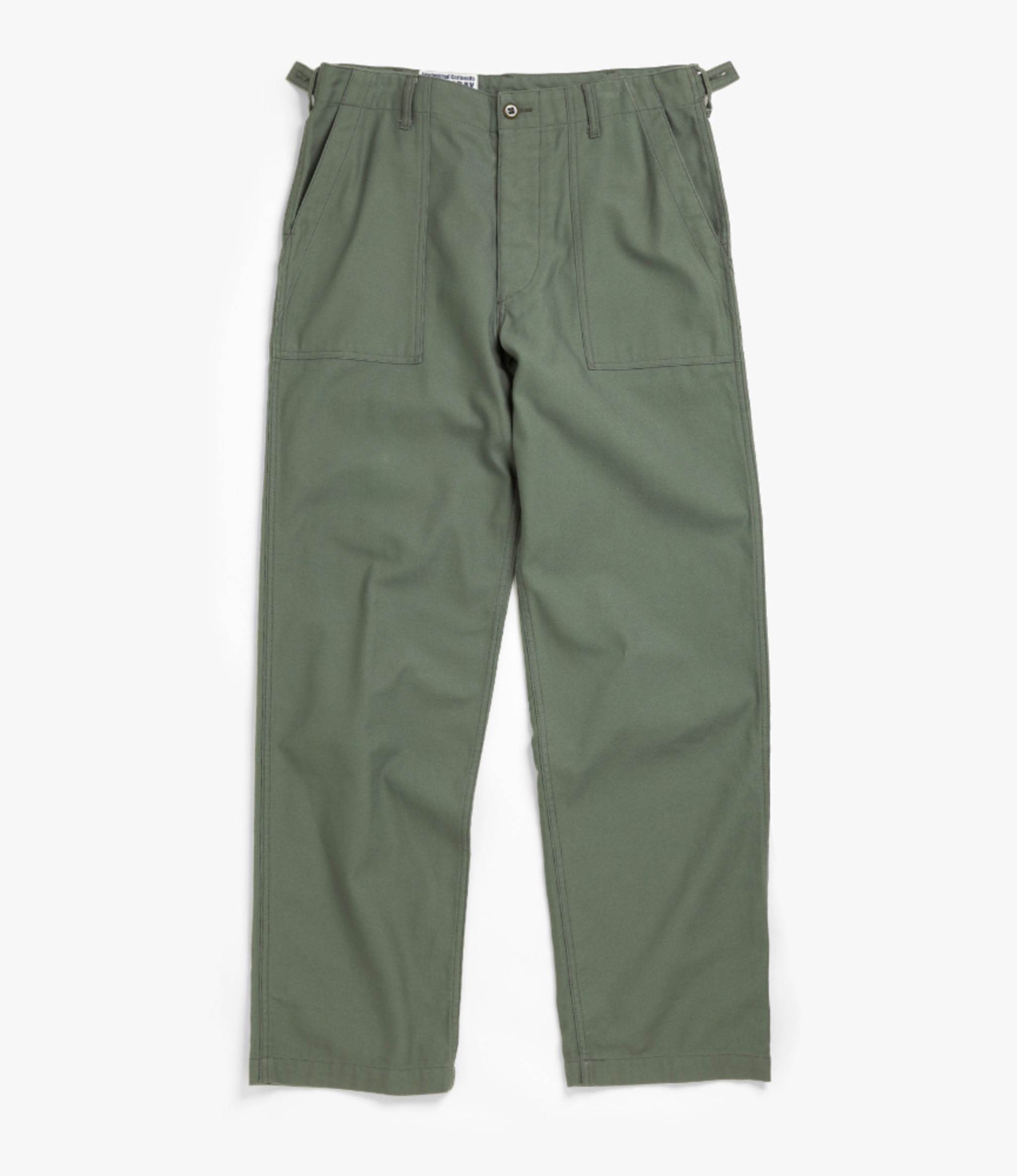 Workaday by Engineered Garments Fatigue Pant - Olive Cotton Reversed Sateen