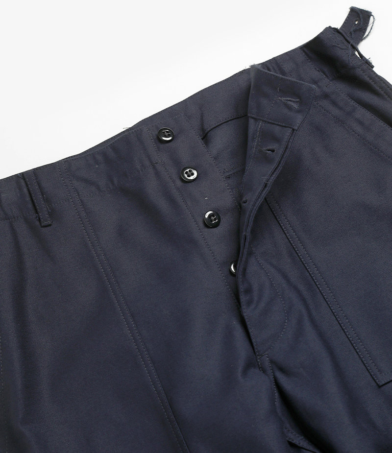 Workaday by Engineered Garments Fatigue Pant - Dark Navy Cotton Reversed Sateen