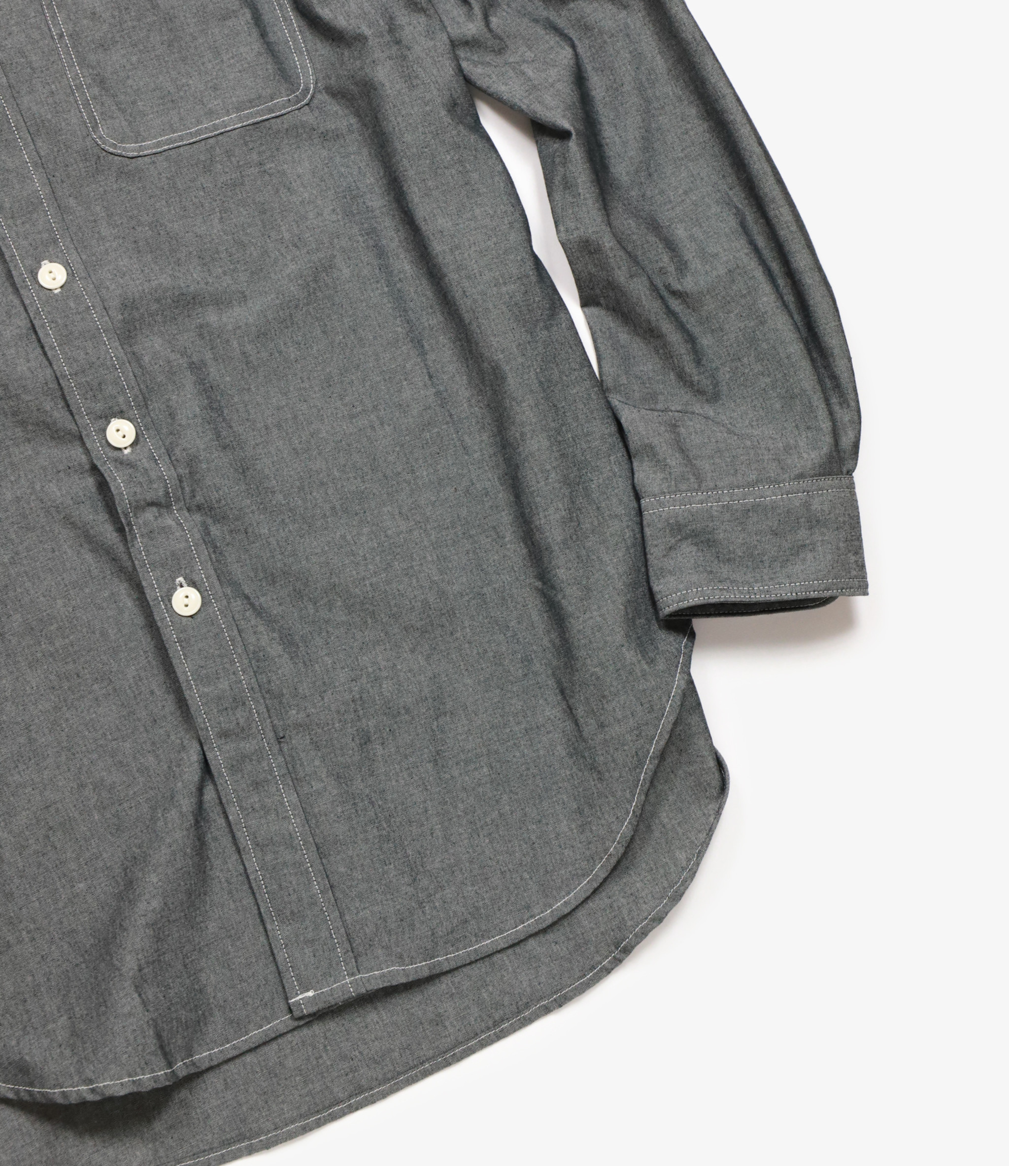 Workaday by Engineered Garments Utility Shirt - Grey CP Chambray