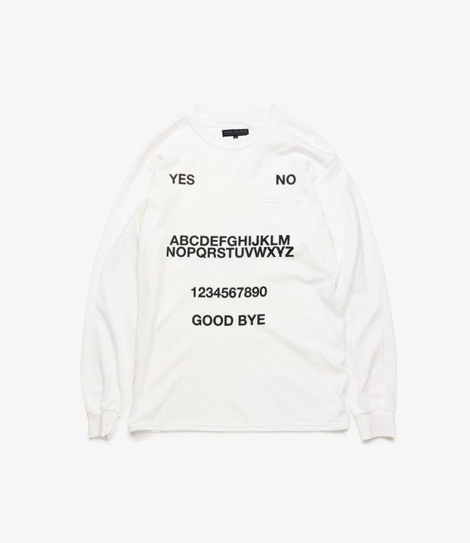 L/S Pocket T-Shirt - White - Ouija