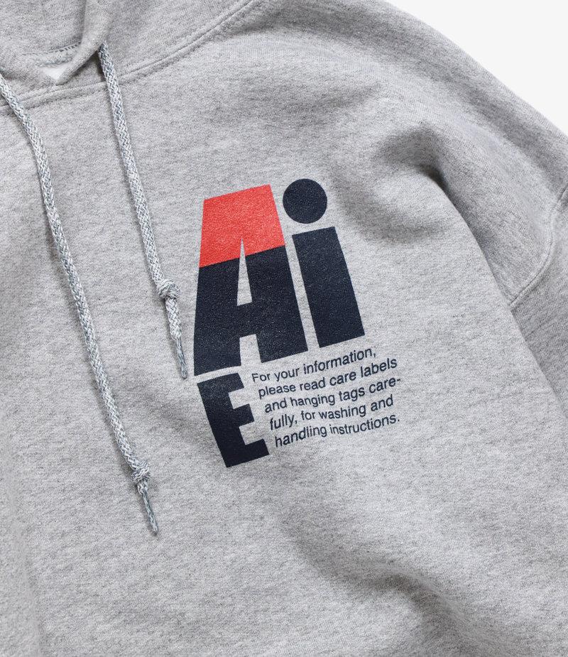 AïE Printed Hoody - Grey - Small AiE Logo