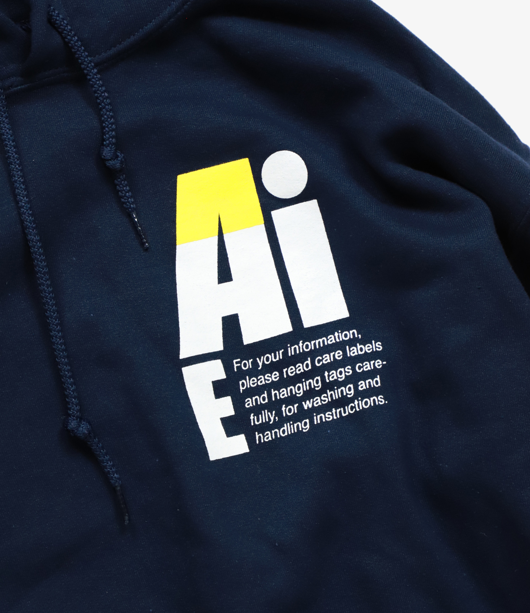 AïE Printed Hoody - Navy - Small AiE Logo