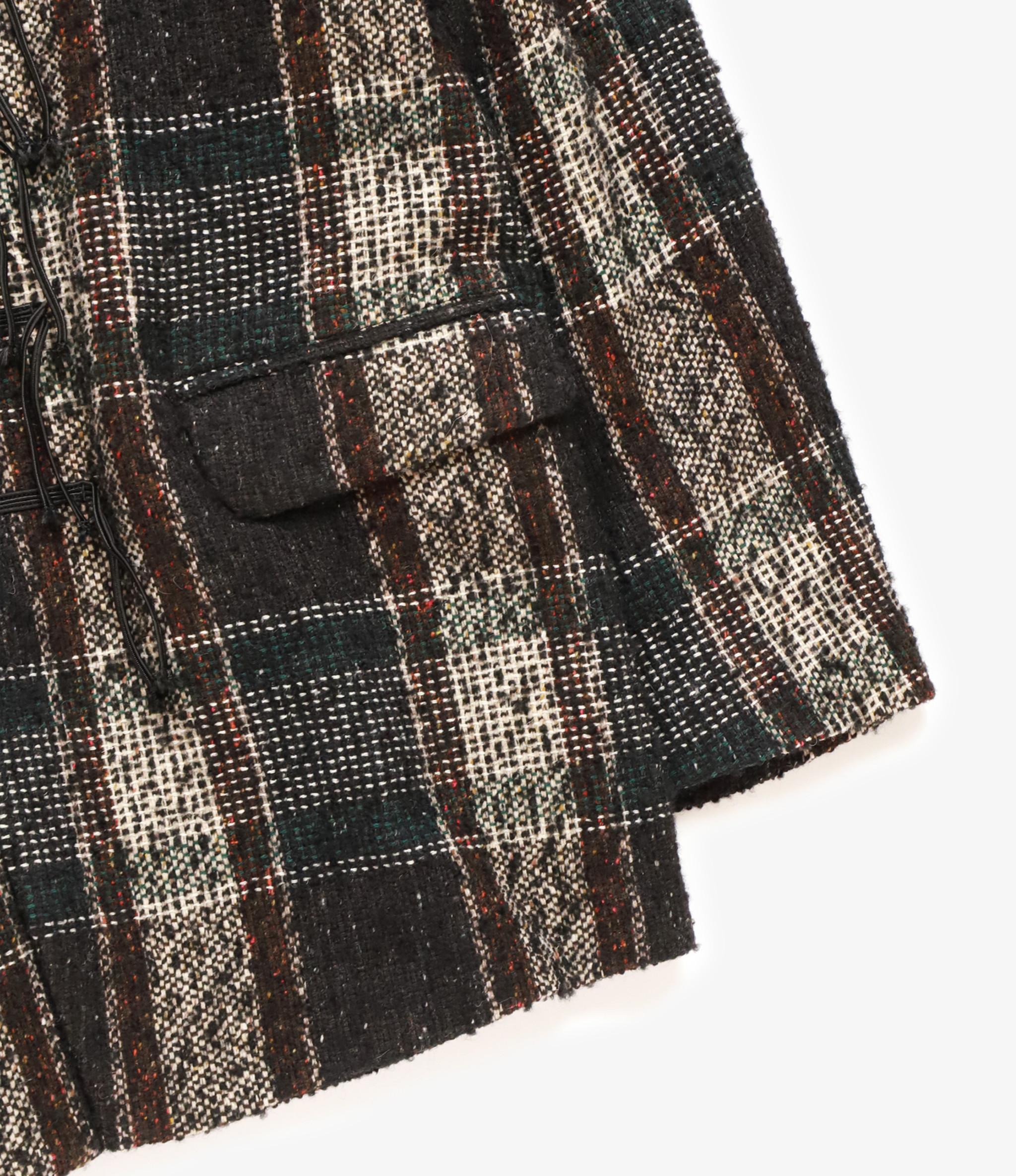 Sasquatchfabrix. Tweed Oriental Jacket - Black x Beige Check