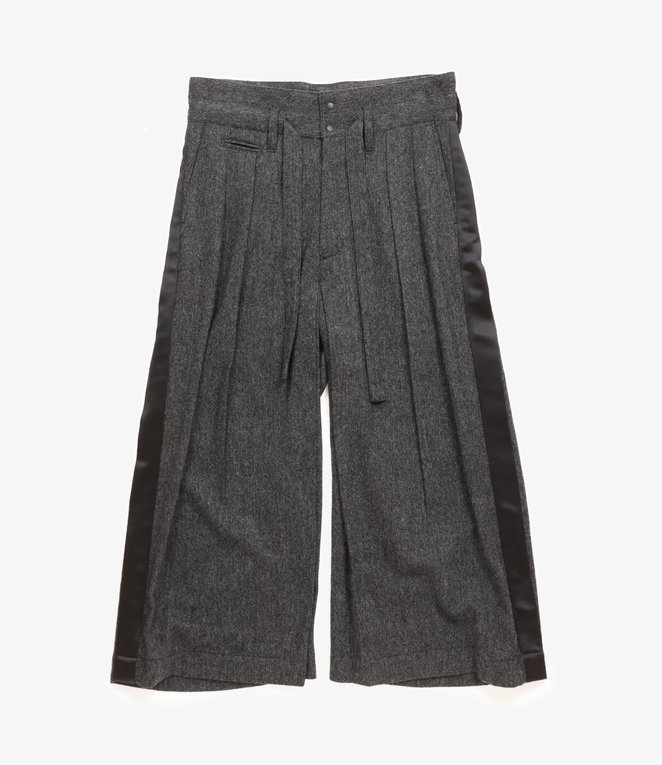 Sasquatchfabrix. Tweed Hakama Pants - Black x White
