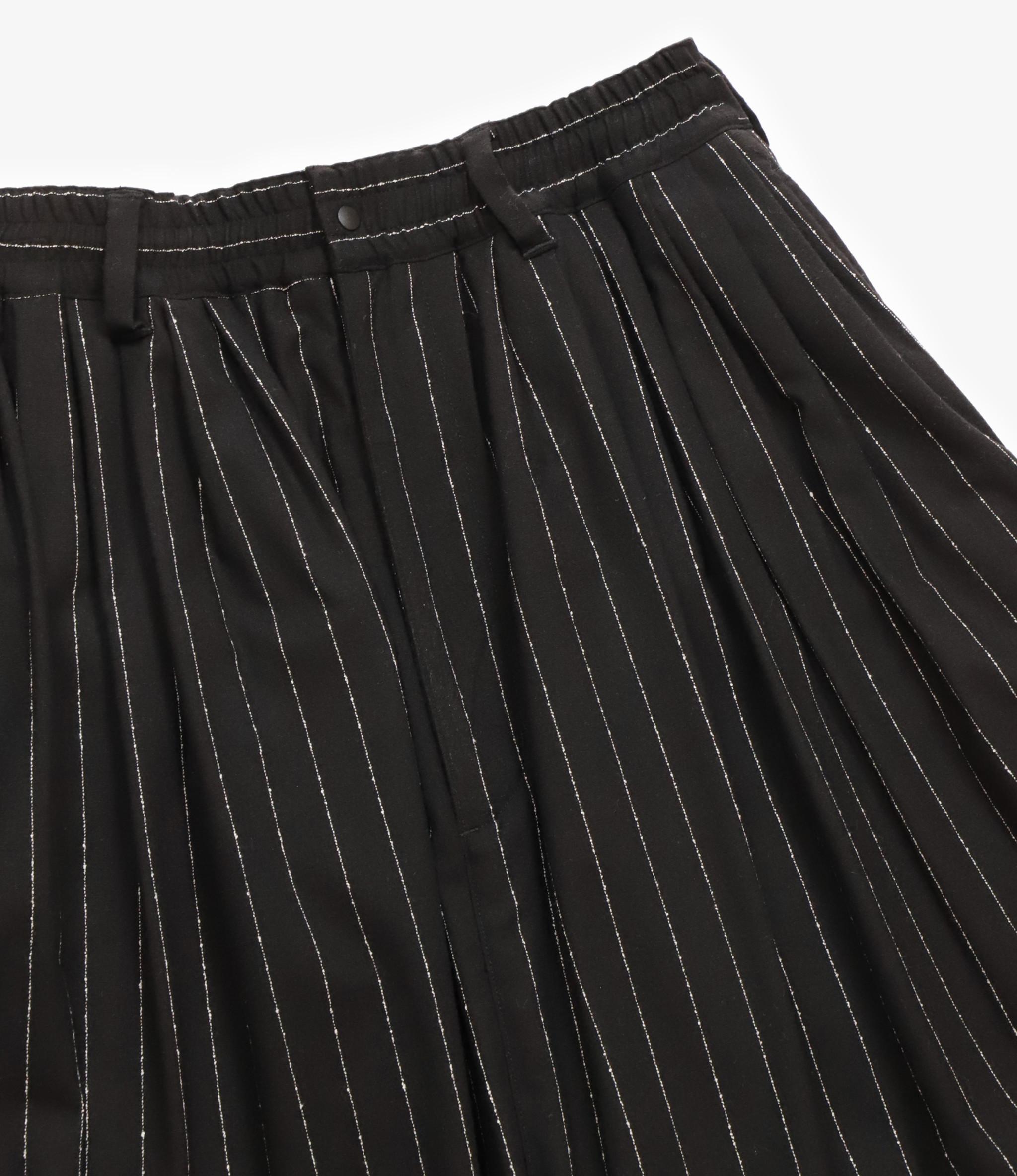 Sasquatchfabrix. Big Silhouette Pants - Black/White Stripe