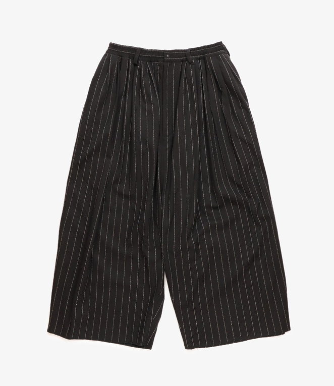 Sasquatchfabrix. Big Silhouette Pants - Black/White Stripe
