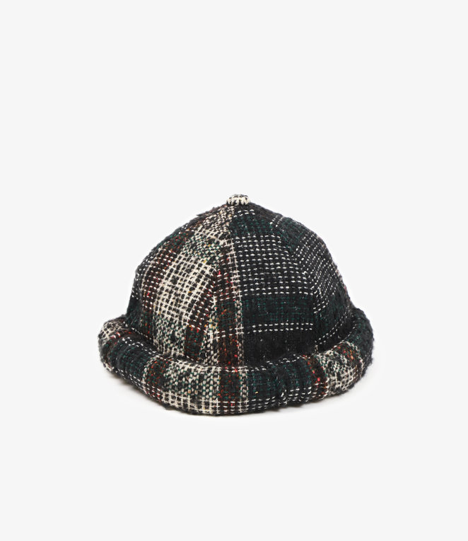 Sasquatchfabrix. Tweed Cap - Black x Beige Check