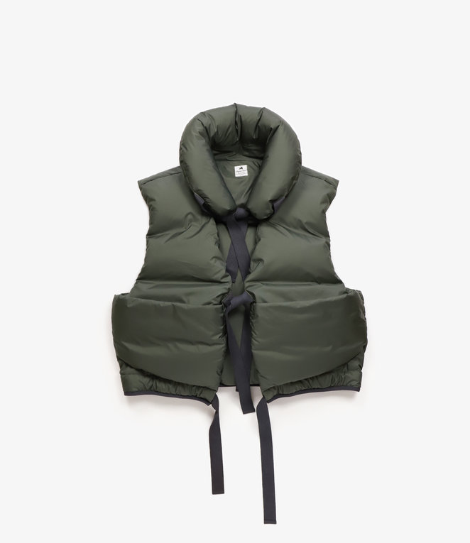 Sasquatchfabrix. Over Down Vest - Dark Khaki