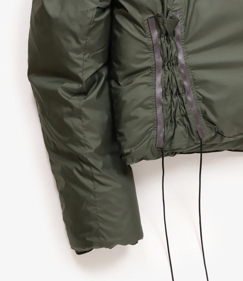 Sasquatchfabrix. Oriental Short Down Jacket - Dark Khaki