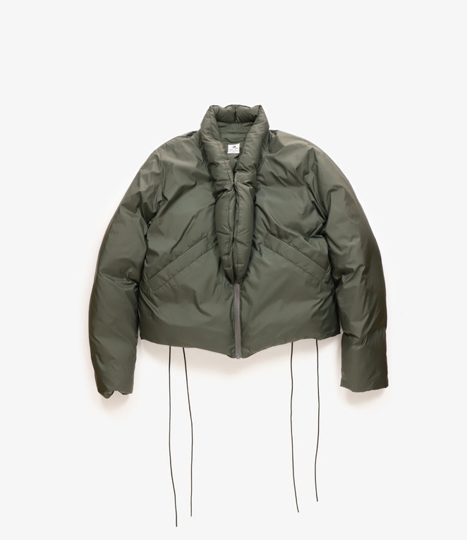 Sasquatchfabrix. Oriental Short Down Jacket - Dark Khaki