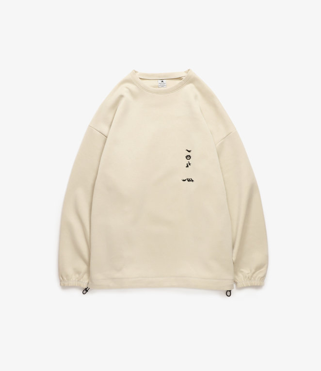 Sasquatchfabrix. Big Crewneck Top - Beige
