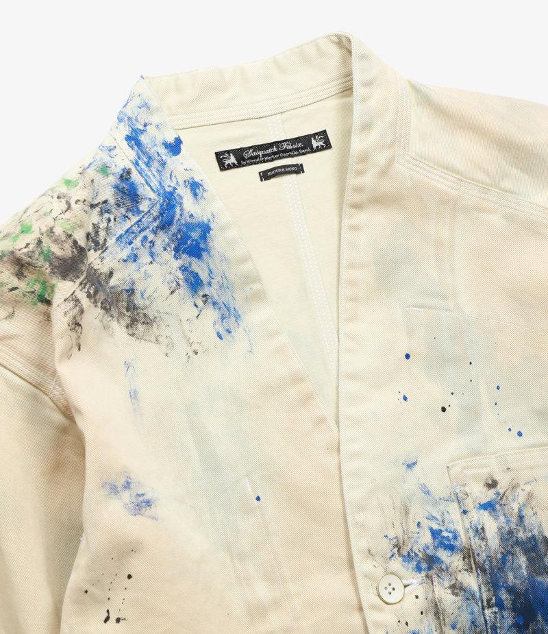 Sasquatchfabrix. Paint Wa-Neck Coverall - White