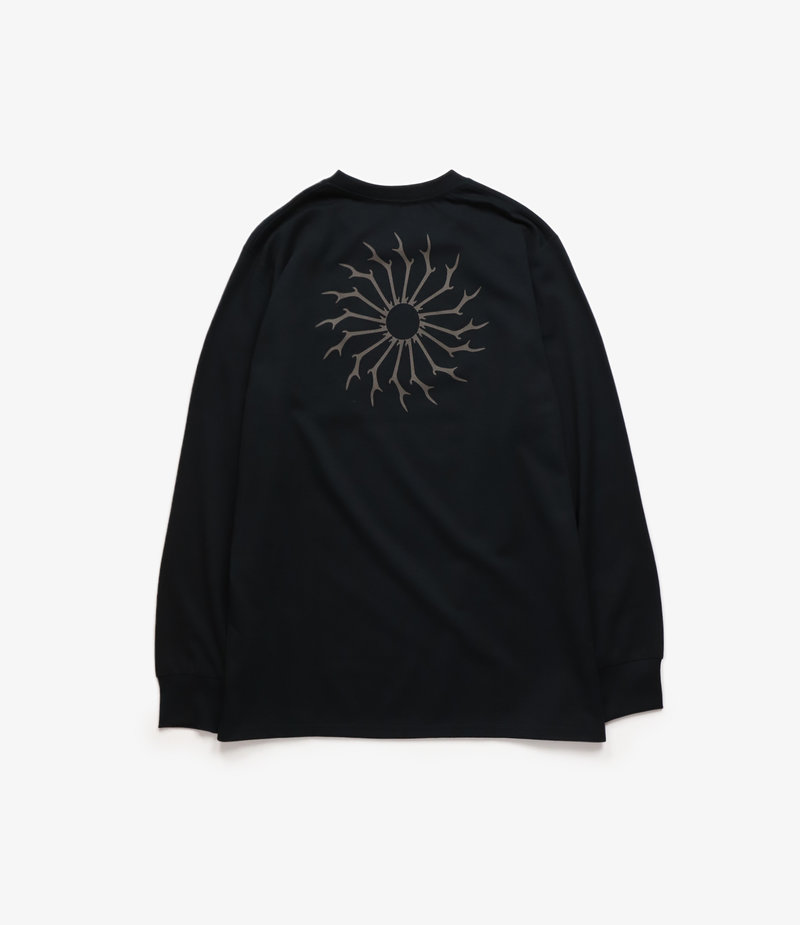 South2 West8 L/S Round Pocket Tee Circle Horn - Black