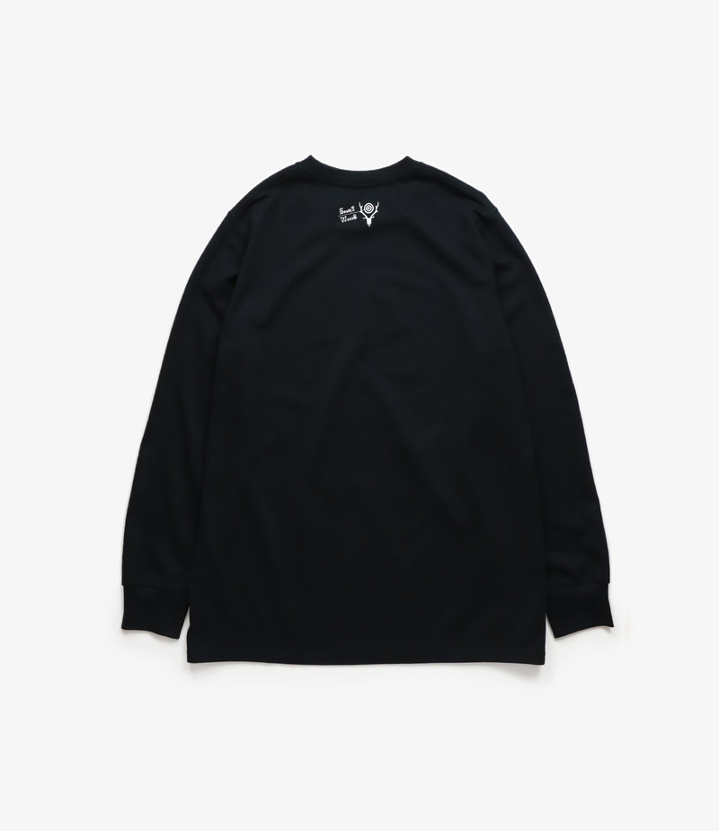 South2 West8 L/S Crew Neck Tee - Poly/C Jersey GOING, GOING, GONE - Black