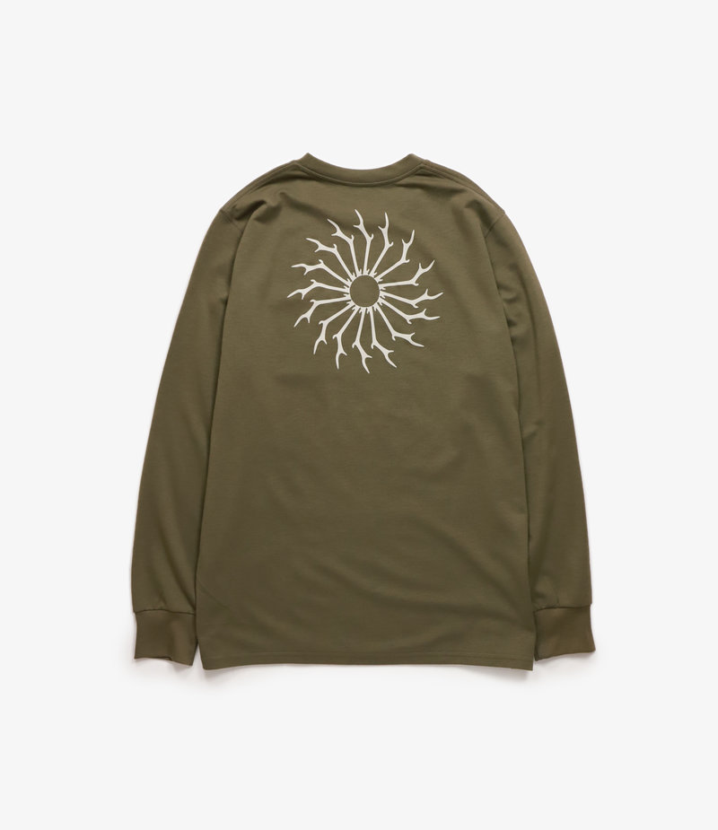 South2 West8 L/S Round Pocket Tee Circle Horn - Olive