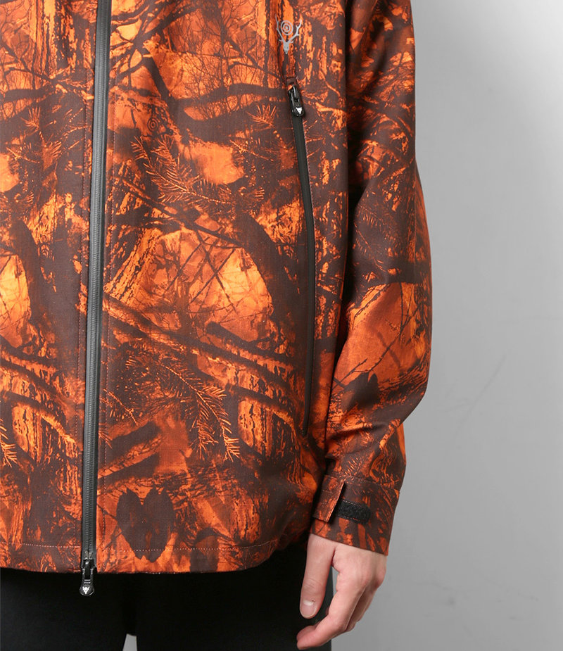 South2 West8 Weather Effect Jacket - Water Proof / S2W8 Camo - Orange