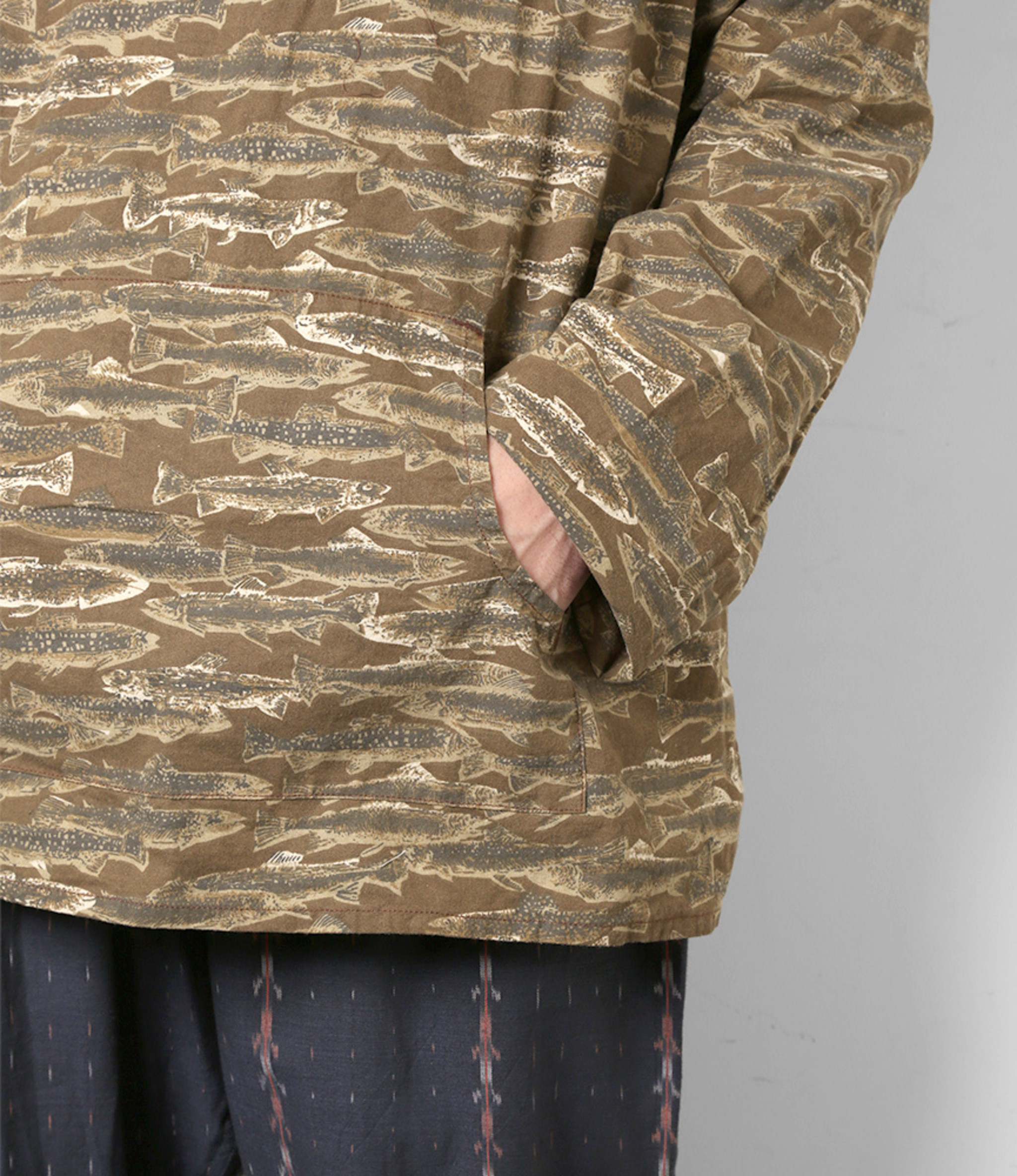 South2 West8 Mexican Parka Printed Flannel / Camouflage - Trout