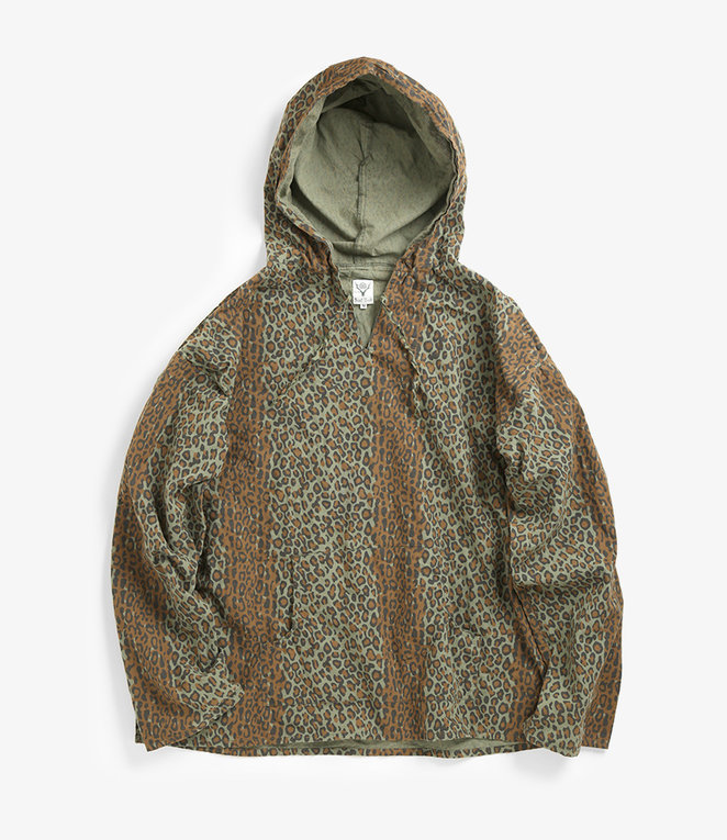 South2 West8 Mexican Parka Printed Flannel / Camouflage - Leopard
