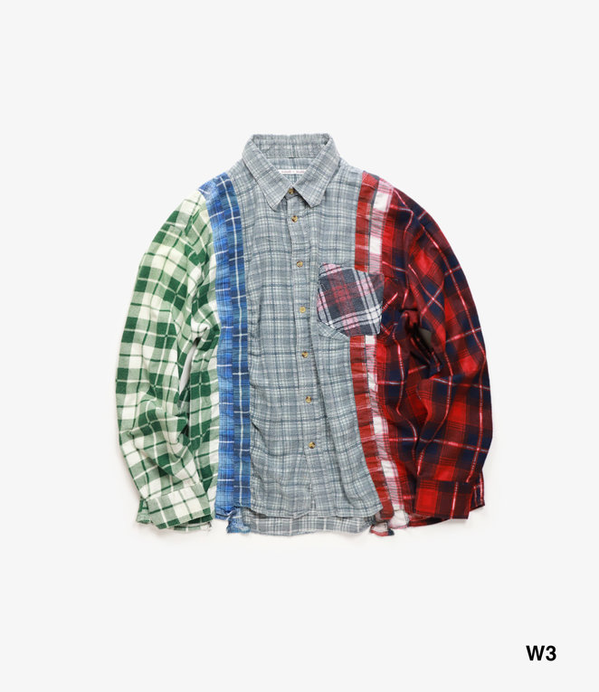 Needles Rebuild by Needles Flannel Shirt - Wide 7 Cuts Shirt