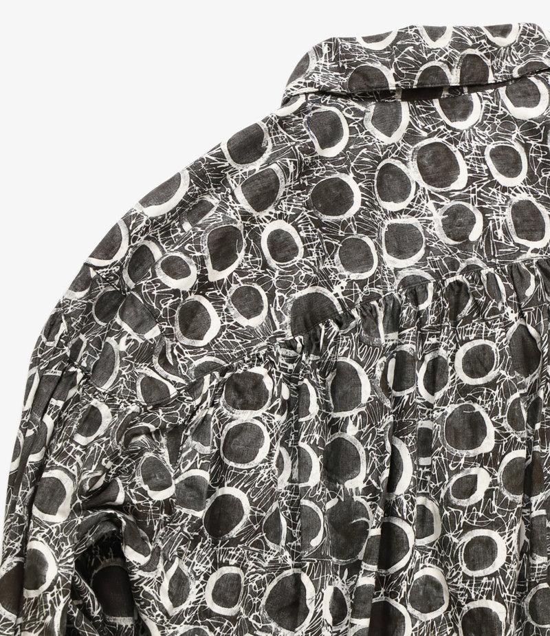 AïE Painter Shirt - Black/Natural Abstract Circle Print