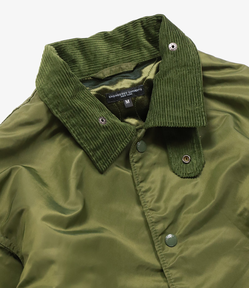 Engineered Garments Ground Jacket - Olive Flight Satin Nylon