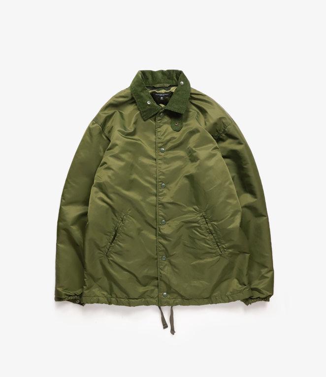 Engineered Garments Ground Jacket - Olive Flight Satin Nylon