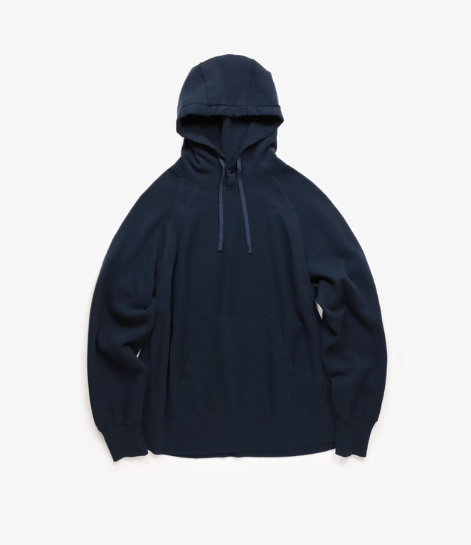 Engineered Garments Raglan Hoody - Navy Cotton Fleece