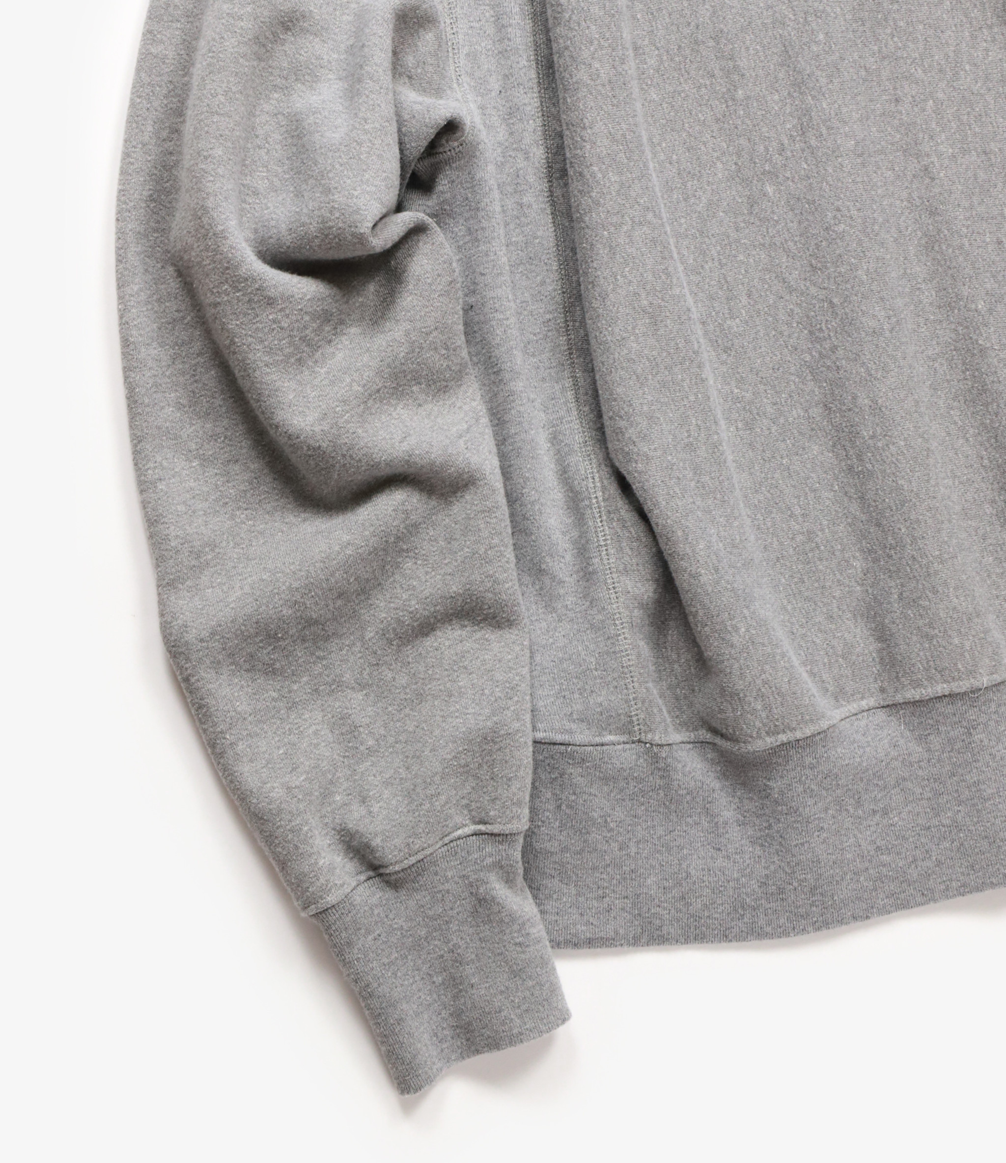 Engineered Garments Raglan Crew - Heather Grey PC Fleece