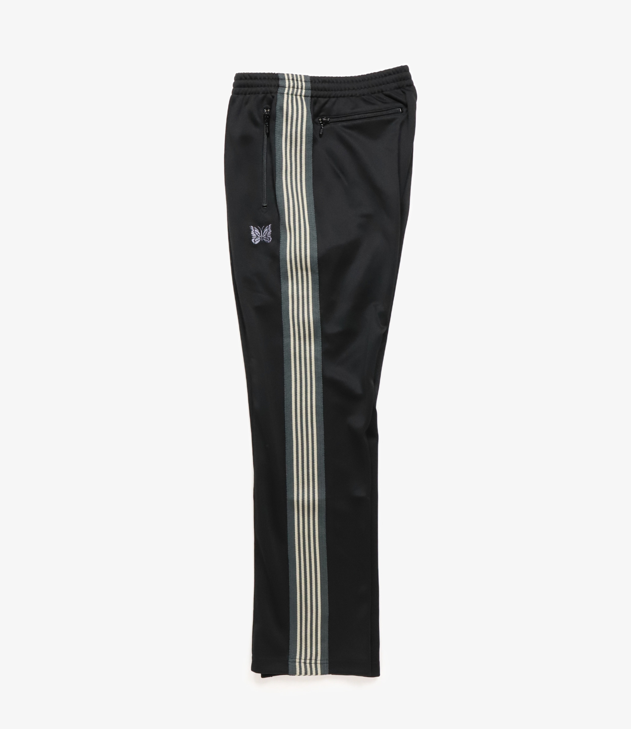Needles SHOP SPECIAL - Narrow Track Pant - Poly Smooth - Black